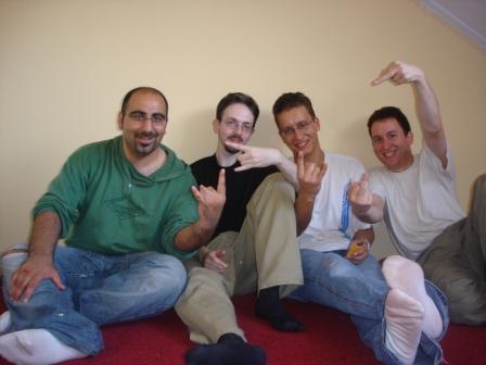 Met broerlief en twee hele goede vrienden