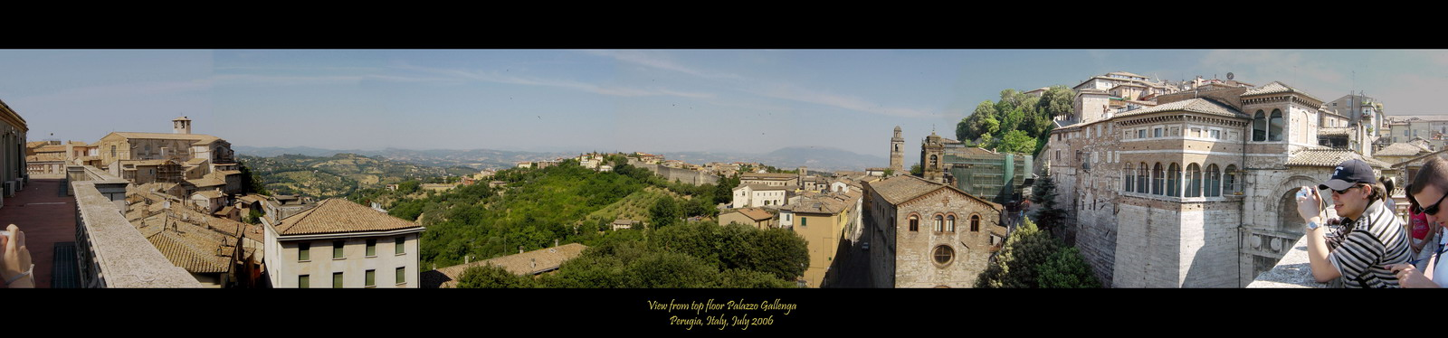 Uitzicht over Perugia, vanaf Palazzo Gallenga