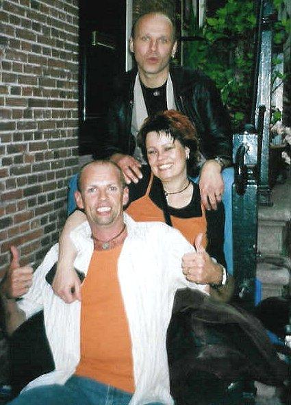 met Rik en Mart op Koninginnedag 2005 in Amsterdam...
