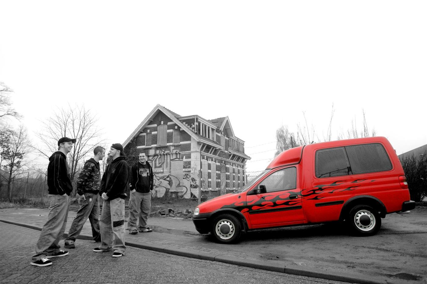 Fotoshoot met de band februari / maart 2007