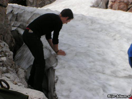 eeuwige sneeuw-ballen gooien