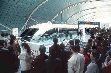 Zweeftrein zoals ze nu rijdt in Shanghai