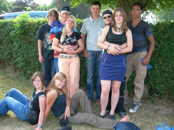 Het groepje van vakantie