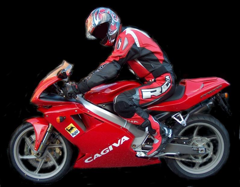 Ik op mijn moto