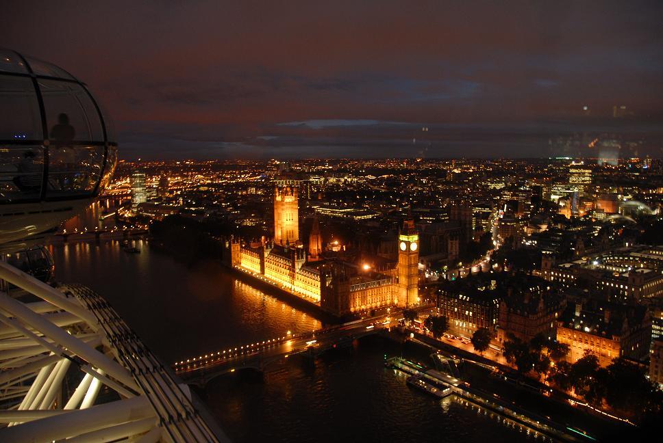 Vanuit Londen Eye de Big Ben!