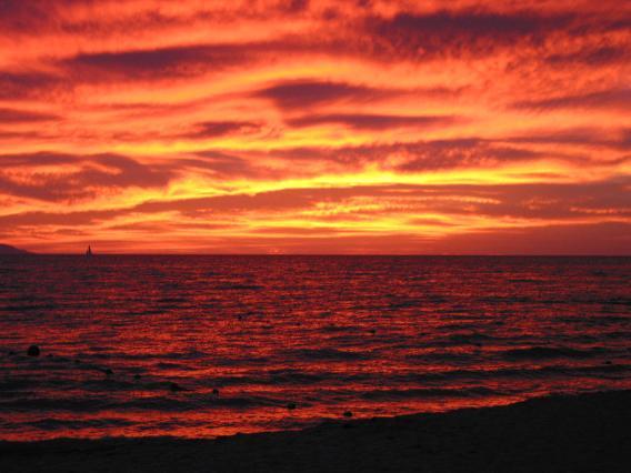 zo mooi is een sunset in Puerto Vallarta, Mexico met digi-cam vast te leggen!
