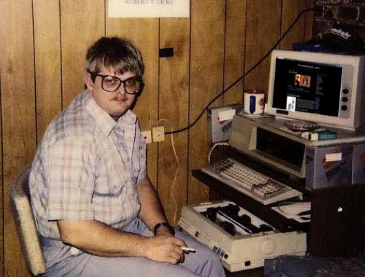 foto van mezelf achter de computer