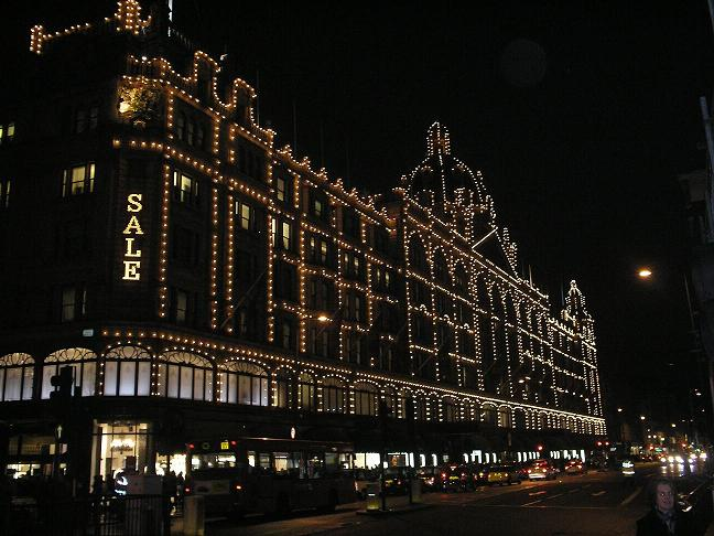 Harrods, Londen by night!