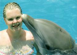 Kusje van dolfijn