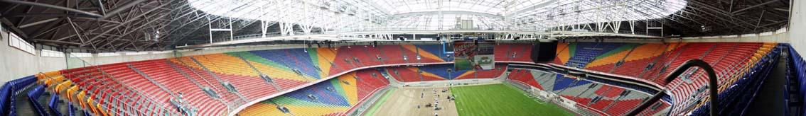 Panorama van de Arena...