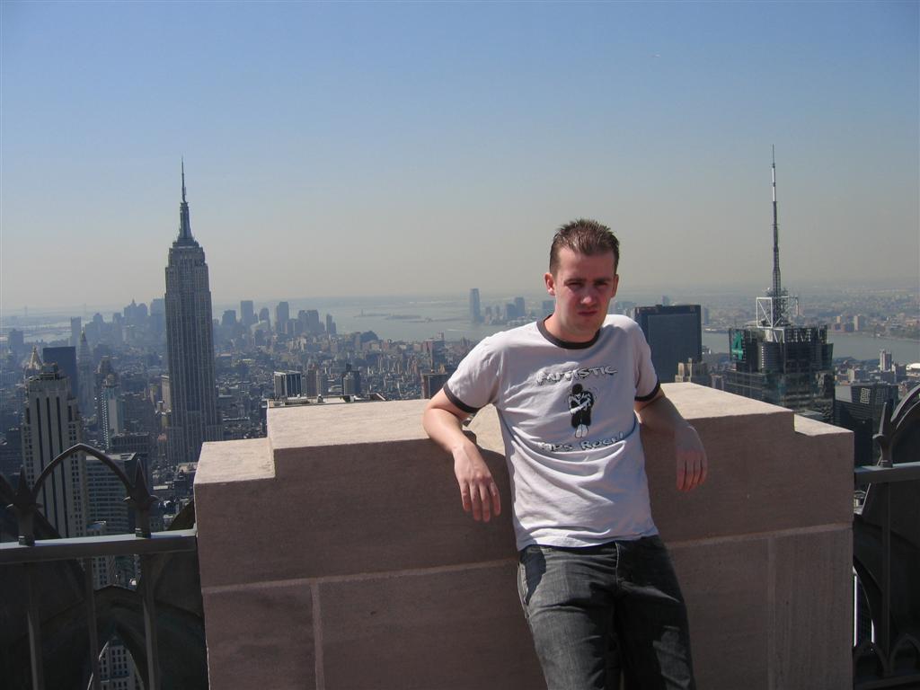 Ik ben heel cool op Rockefeller NYC