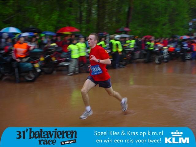 Hier kom ik aan bij de finish van de BatavierenRace in Enschede.