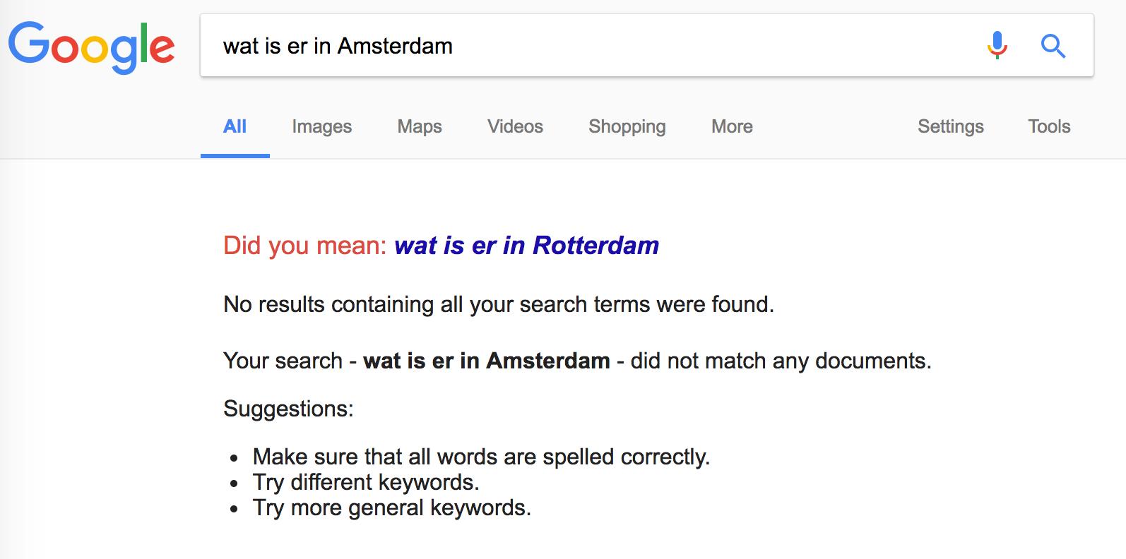Helemaal niets in Amsterdam