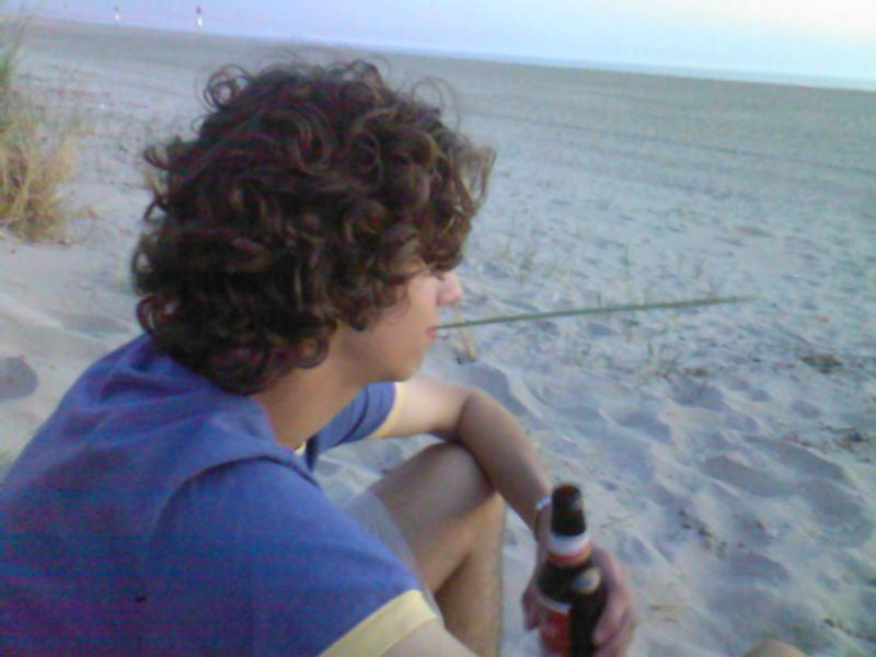 ik op strand