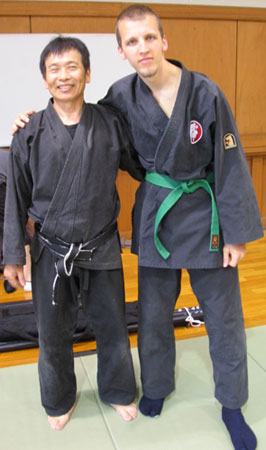 Een van de leraren in Japan en ik :)