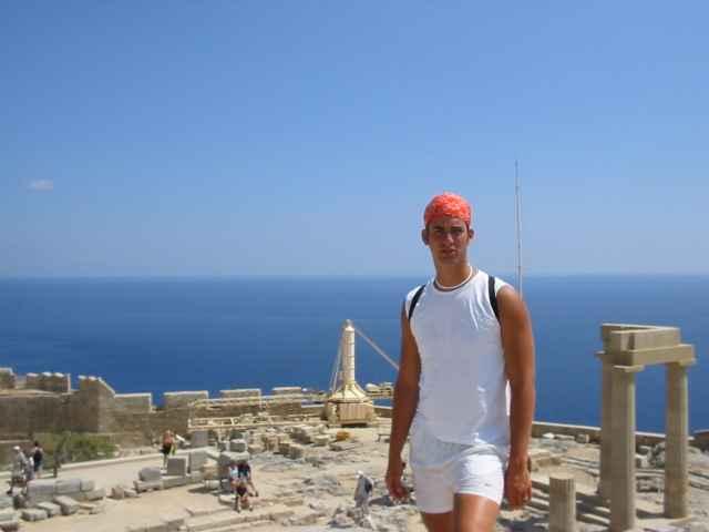 In Griekenland op een afgerondje