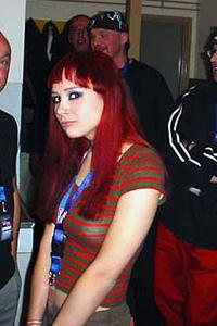 Dit was ik met rood haar; voor een optreden met mijn band BOGART©.