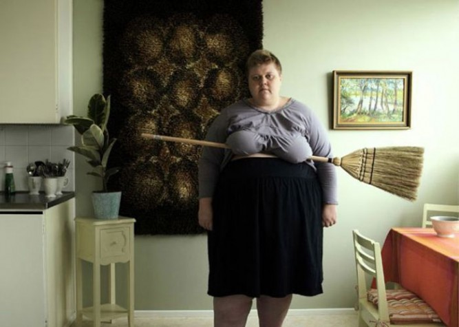 they call her the broomstick holder