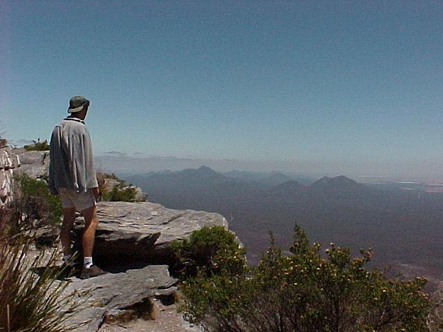 Berg beklommen, zuid-west Australie
