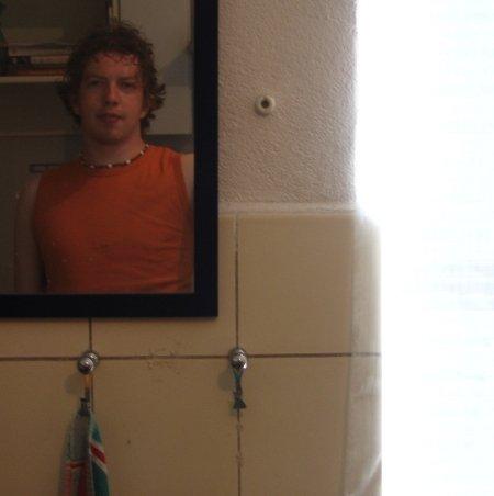 In de spiegel
