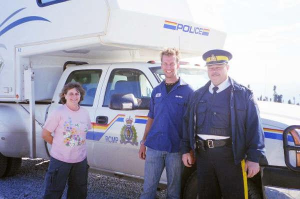 Politiecamper op de Dempster Highway, Yukon, Canada
