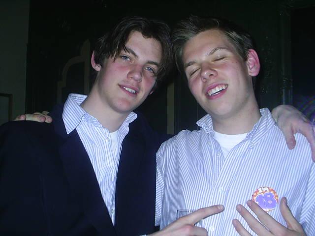 Gregor en ik, op zijn verjaardag