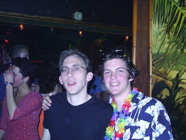 Mr. Faes(Eco Leraar) en ik op het Stuntfeest 2004