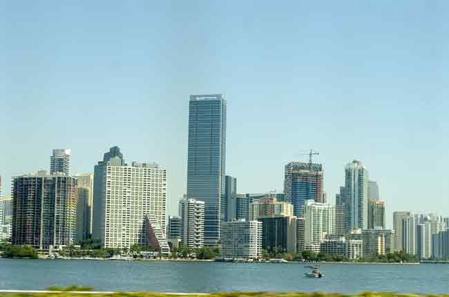 Downtown Miami vanuit autoraam