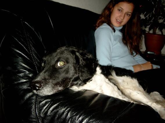 Sabine (zusje) en Chester (hond :P)