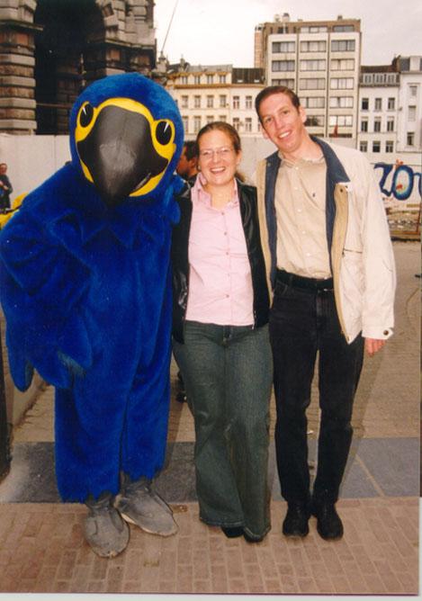 Tedda, ik en Pino in Antwerpen