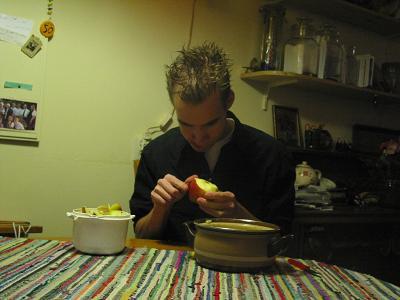 /me schilt een appel :P