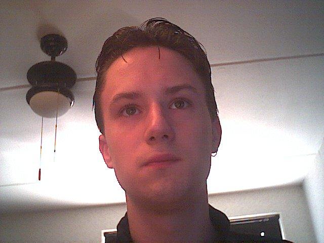 Op de webcam