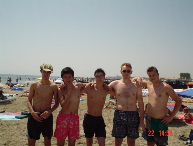 Groepsfoto tijdens zomervakantie in Cap