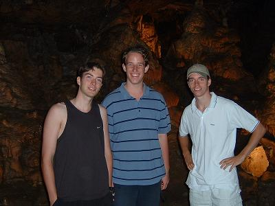 Teun (links) in de grotten van Han :)