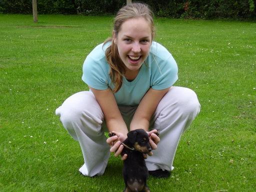Me! met ons little doggie :D
