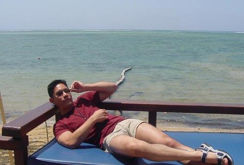 Relaxen aan het kabbelende water ...