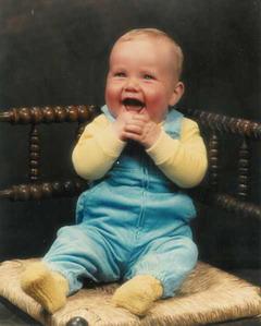 JW als Baby