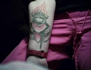 Manibeeb tattoo @ arm