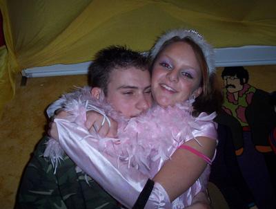 ik met zatte vriend van fliep met carnaval