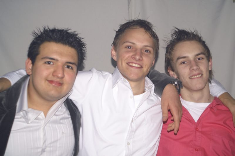 vlnr: Amir, Jeroen, mij