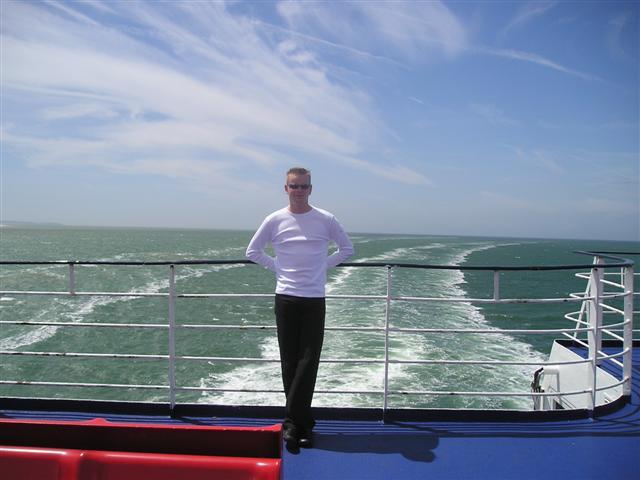 Op bootje vanaf Engeland