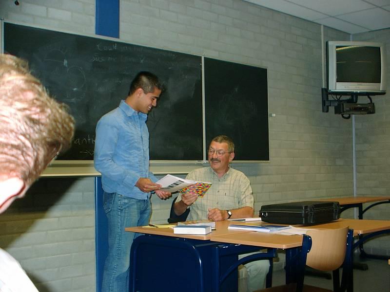 tijdens diploma uitreiking