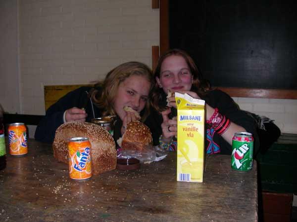 Ik en lisette (van die close-up foto) in een stevige schrans bui :)