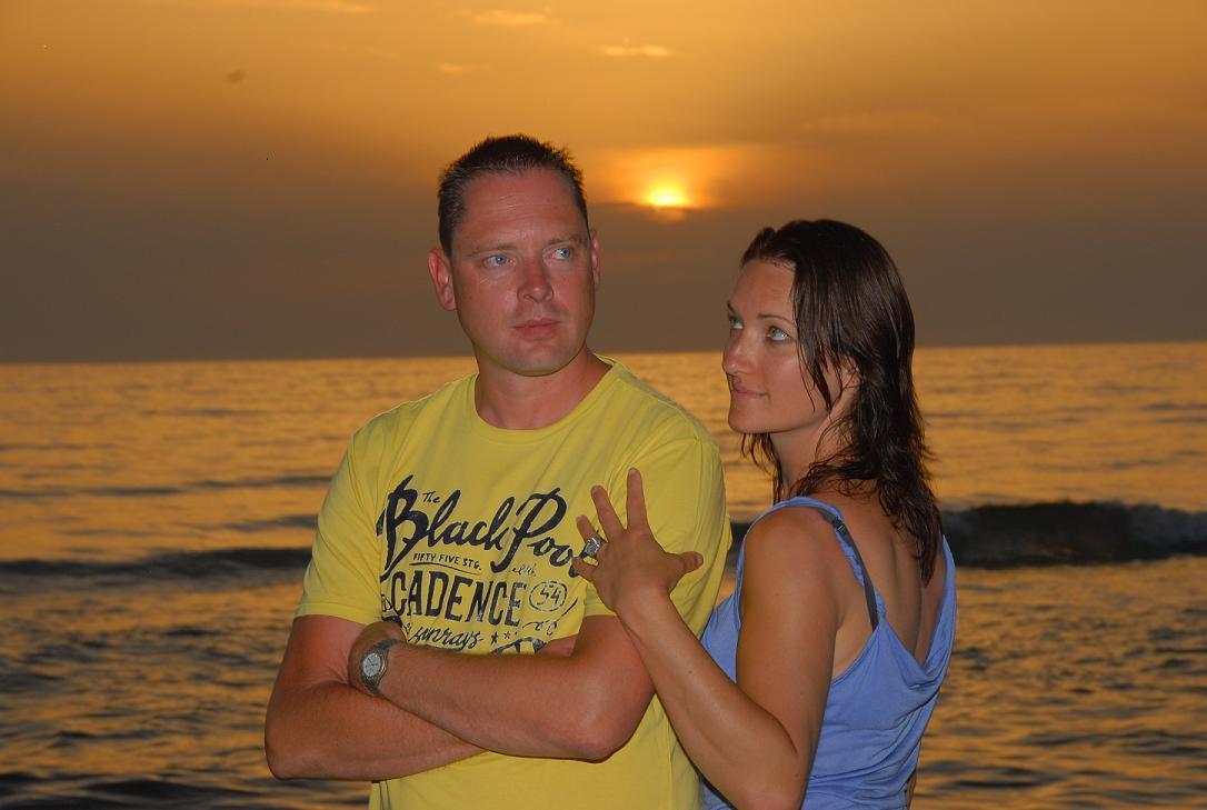 Samen voor een mooie zonsondergang
