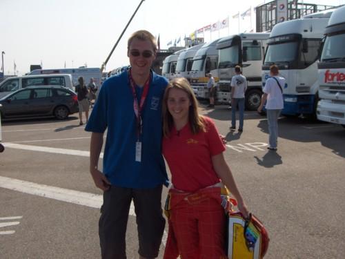 ik met Stephanie Boden op de foto