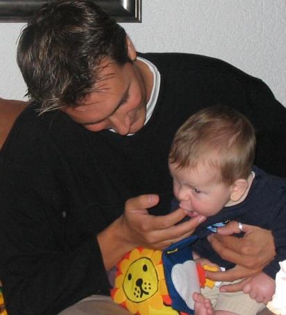 Ikke met 1 van mijn neefjes... Nils