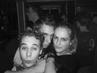 Met twee vrienden