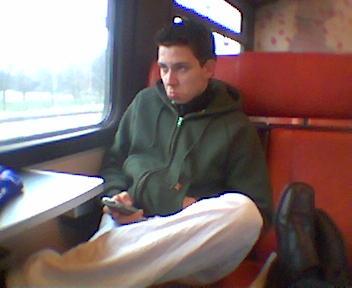 Kijk mij zitten in de trein :)