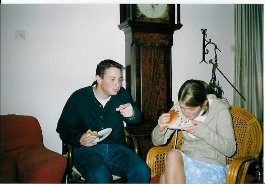 Hamburgers eten met Jipje op mijn verjaardag!