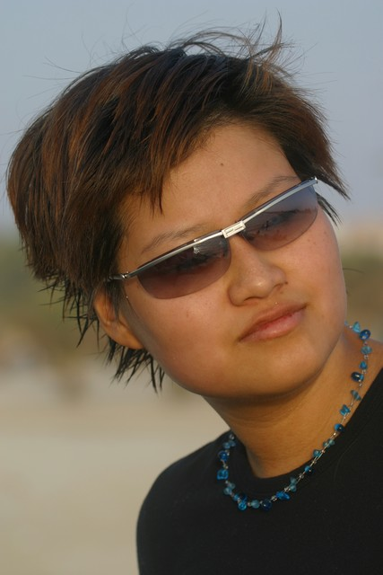 Fotosessie op ut strand in Dubai